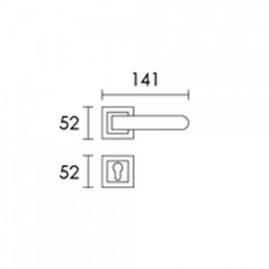 Πόμολο Πόρτας Χειρολαβή Με Ροζέτα C1785 Μαύρο Ματ