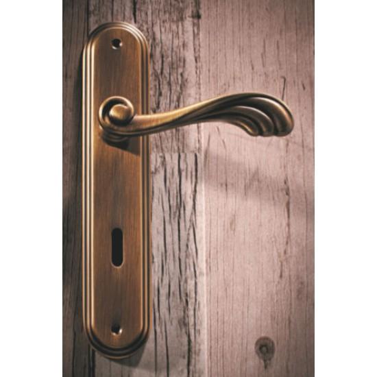 Πόμολο πόρτας χειρολαβή με ροζέτα 221 Μπρονζέ