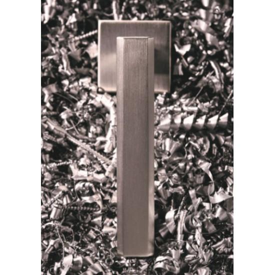 Πόμολο πόρτας χειρολαβή με ροζέτα 2276 Νίκελ Ματ