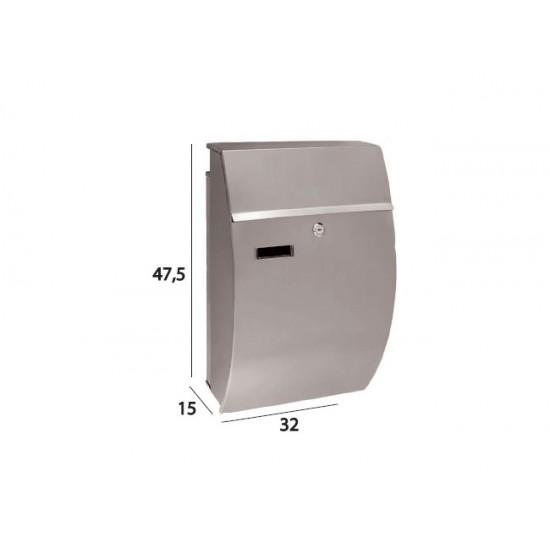 Γραμματοκιβώτιο TX-572 Νίκελ Ματ